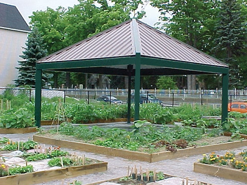 24'x24' Single Tier Square Steel Park Shelter