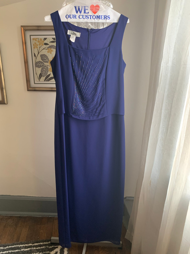 Royal Blue with Beads