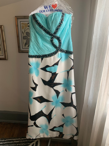 Turquoise and Black Floral