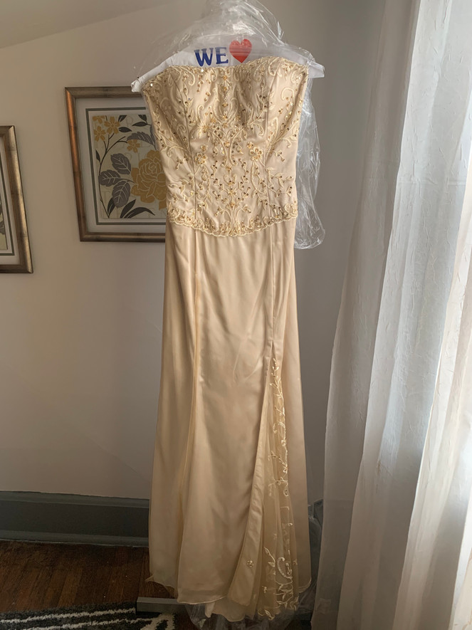 Champagne with beaded bodice