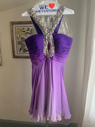 Purple Ombre Chiffon