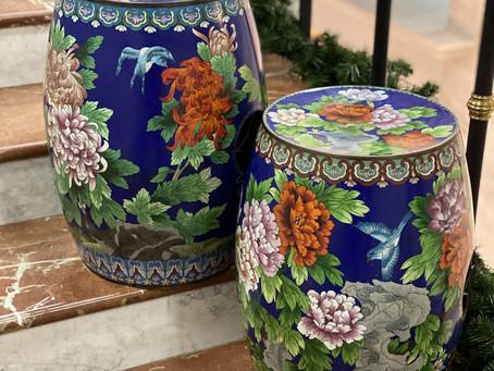 Парные садовые табуреты