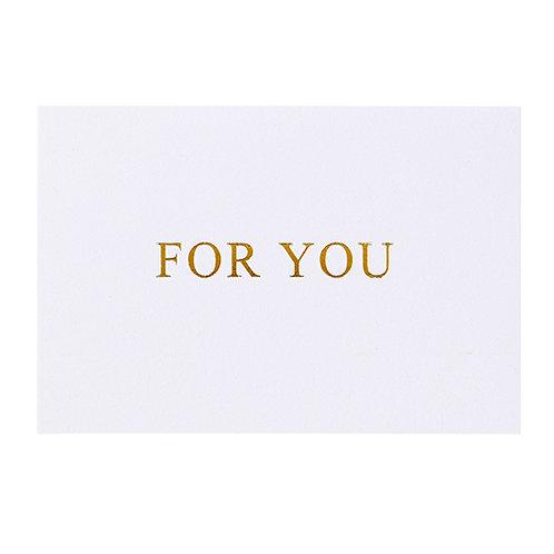 封筒付きギフトカード FOR YOU
