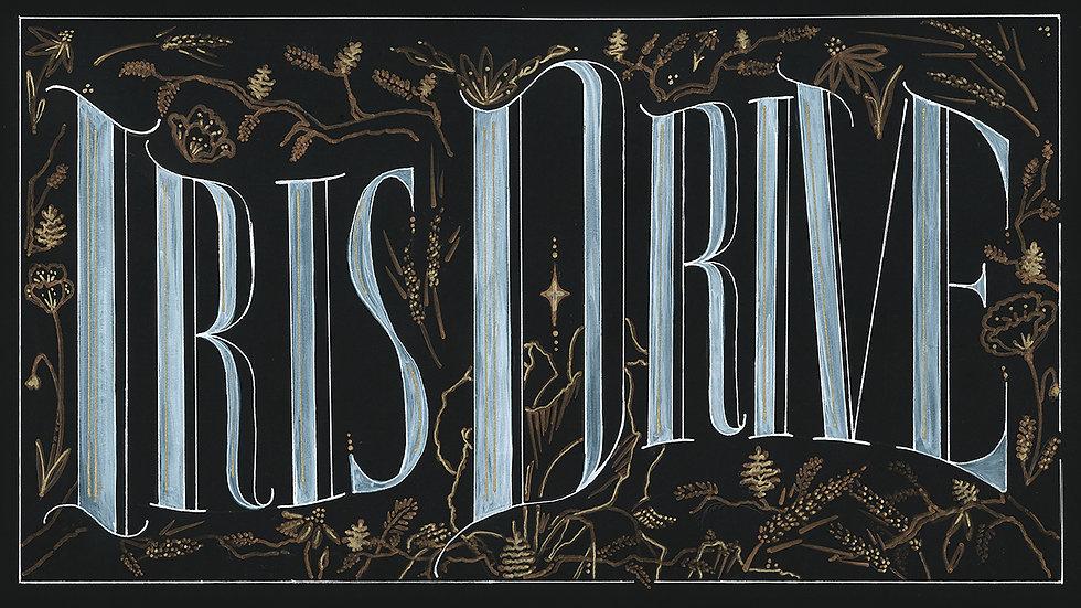 Iris Drive Sticker - Logo Floral