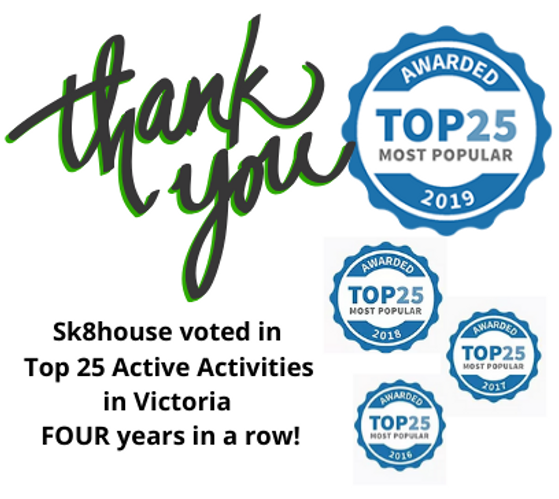 Sk8house voted in Top 25 Active Activiti