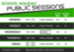 school holiday public sessions
