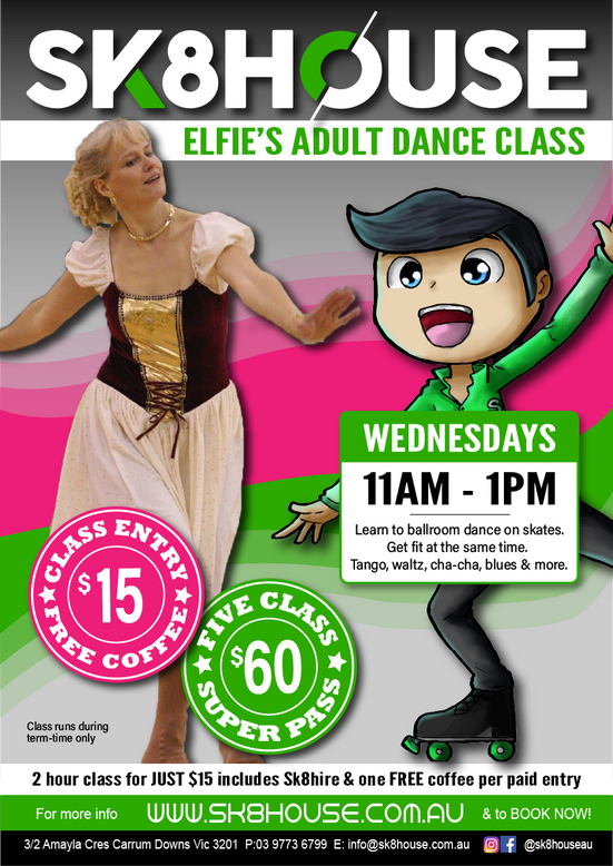 NEW DANCE CLASS FOR ADULTS AT SK8HOUSE