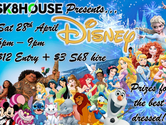 Once upon a time, at a roller skating rink in Carrum Downs there was a Disney theme night! come alon