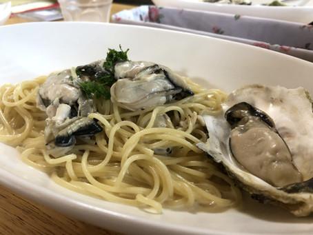 奇跡の牡蠣のクリームパスタは寿都に。