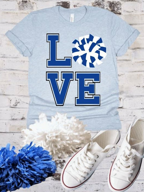 """Cheer LOVE"" Short-Sleeved Tee"