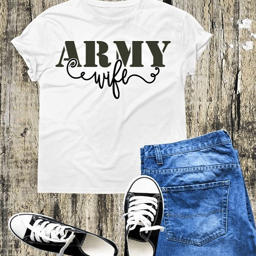 """Army Wife"" Short-Sleeved Tee"
