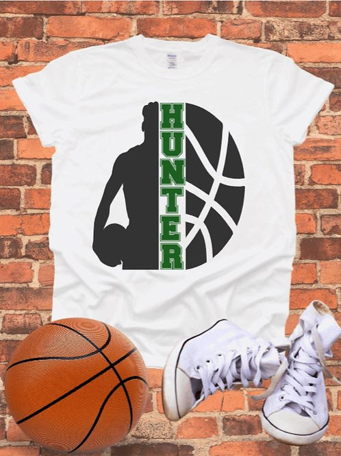 """""""Basketball Custom Frame"""" Short-Sleeved Tee"""