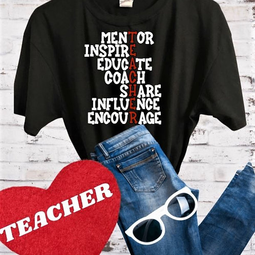 """Teacher"" Short-Sleeved Tee"