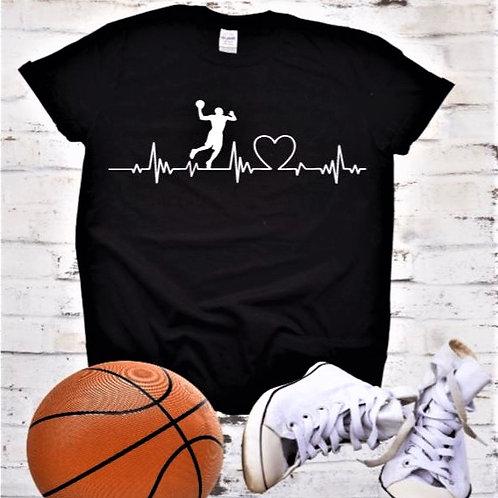 """""""Basketball heartbeat"""" Short-Sleeved Te"""