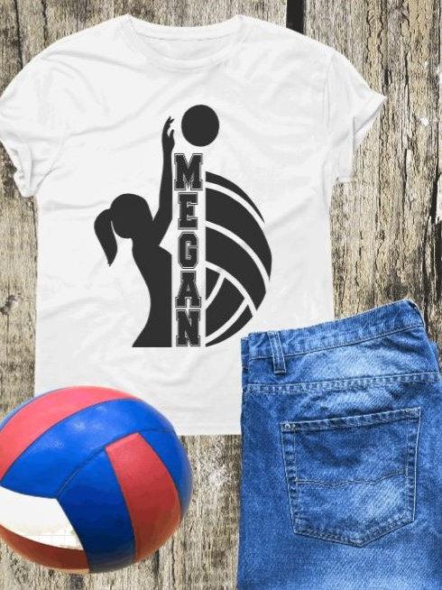 """ Volleyball Custom Frame"" Short-Sleeved Tee"