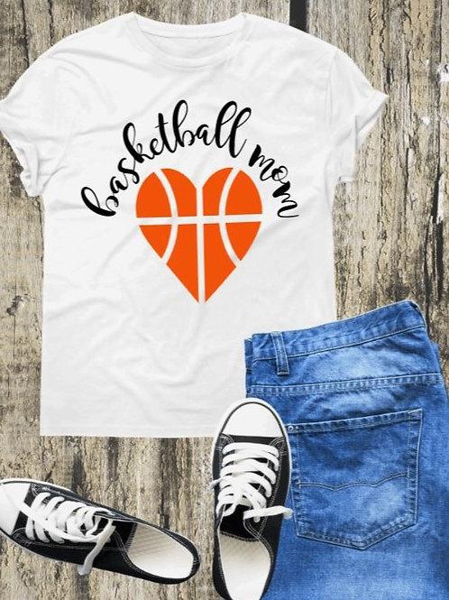 """Basketball Mom"" Short-Sleeved Tee"