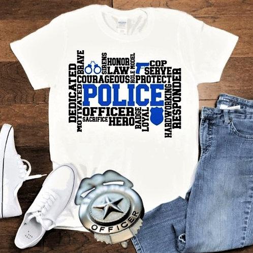 """Police Subway Art"" Short-Sleeved Tee"