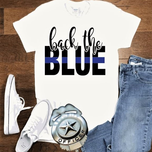 """Back the Blue"" Short-Sleeved Tee"