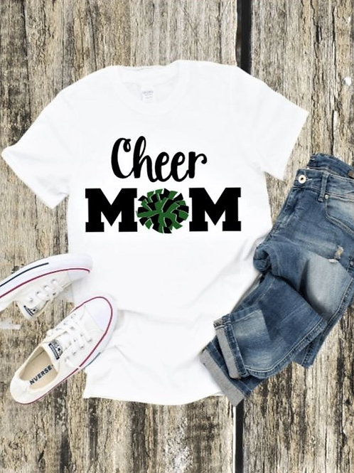 """""""Cheer Mom with pom"""" Short-Sleeved Tee"""