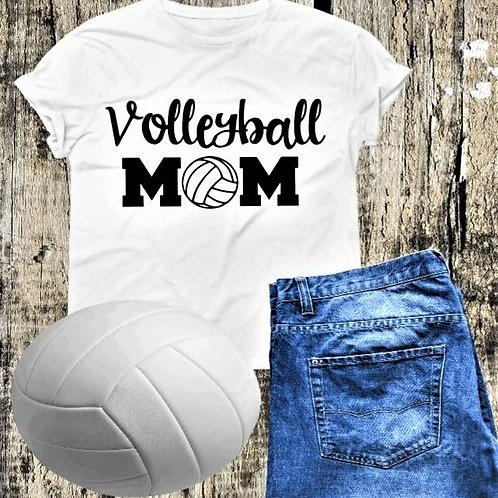 """Volleyball Mom"" Short-Sleeved Tee"