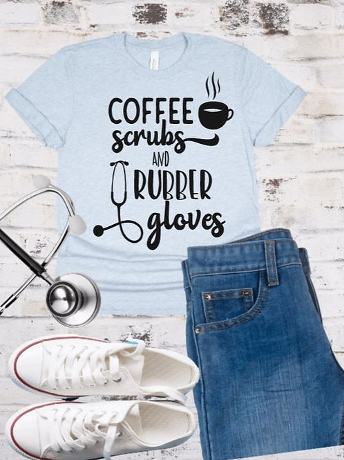 """""""Coffee scrubs and Rubber gloves"""" Short-Sleeved Tee"""