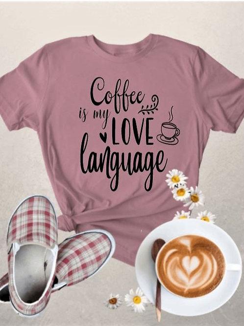 """Coffee is my love language"" Short-Sleeved Tee"