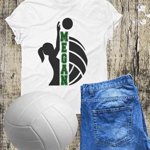 """Volleyball Custom Frame"" Short-Sleeved Tee"