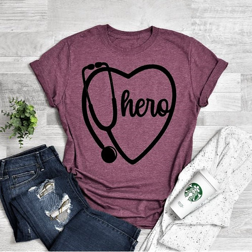 """""""Stethoscope with heart"""" Short-Sleeved Tee"""
