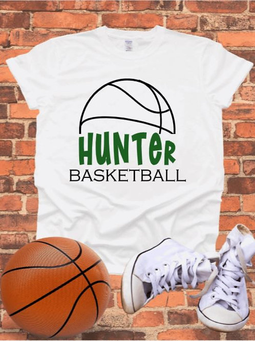 """Half Basketball with players name"" Short-Sleeve"