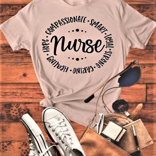 """""""Nurse Circle"""" Short-Sleeved Tee"""