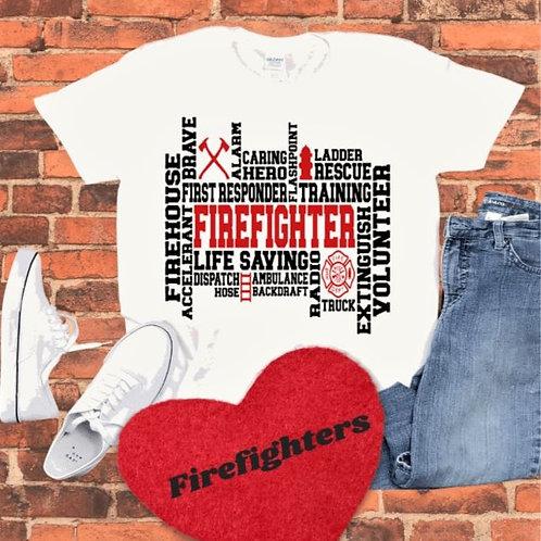"""""""Firefighter Art"""" Short-Sleeved Tee"""