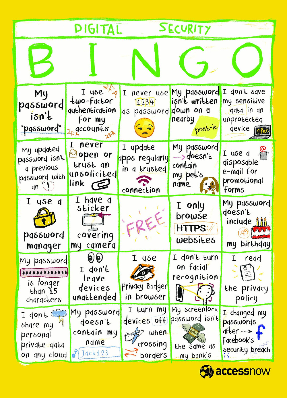 digital security bingo