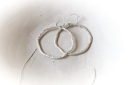 Large Hoop Hammered Earrings