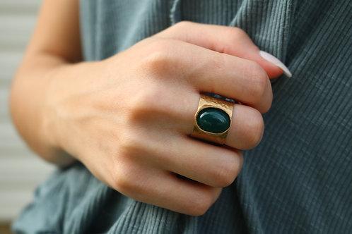Oval Mosaic Gemstone  Ring