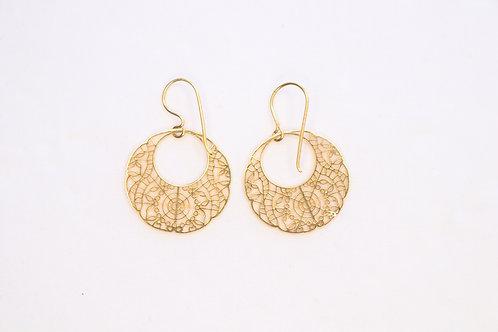 Gold-Filled Circled Shape Earrings