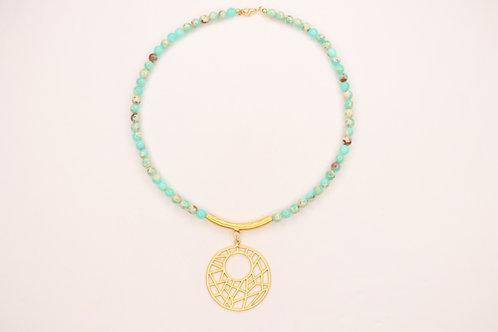 Green Agalmatolite Necklace