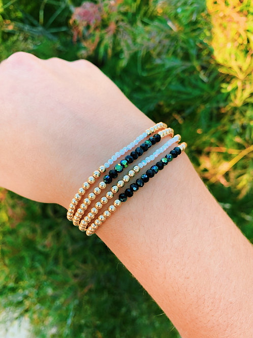 Gold Filled & Opal Bead Bracelet