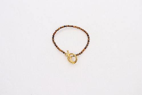 Toggle Clasp Bead Bracelet