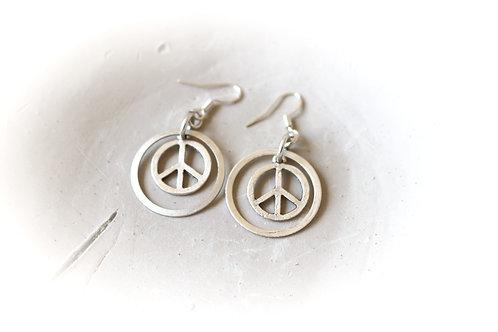 Peace Sign/Avocado Earrings