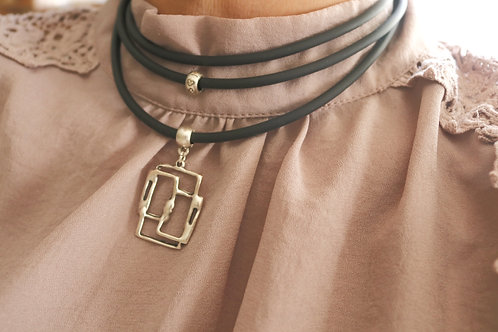 Triple Rectangle Necklace