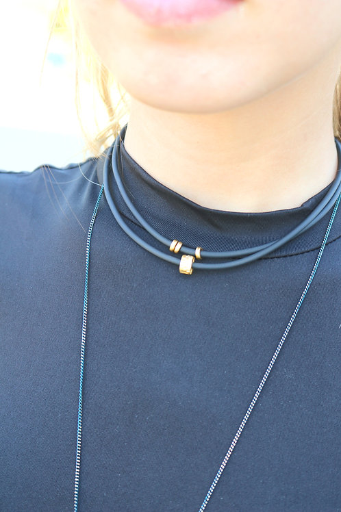 Guzel Layer Rubber Necklace