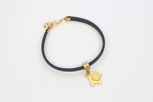 Dog Leather Bracelet