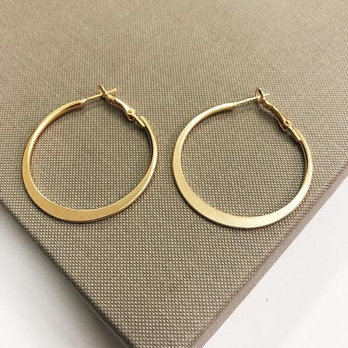 Moon hoop earrings