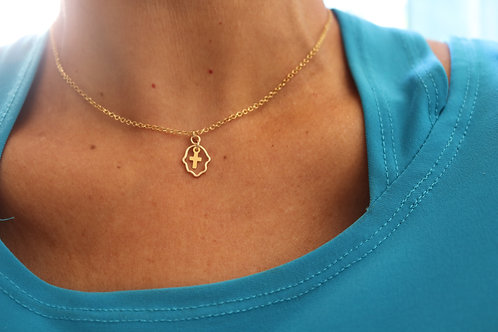 Hamsa Cross Gold-Filled Necklace