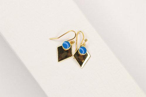 Enamel Blue Earrings