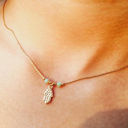 Sterling Silver Hamsa Necklace