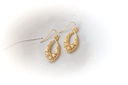 Floral Filigree Earrings