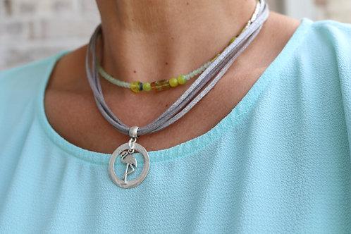 Flamingo Bead Necklace