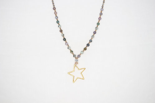 Natural Stone Star Necklace