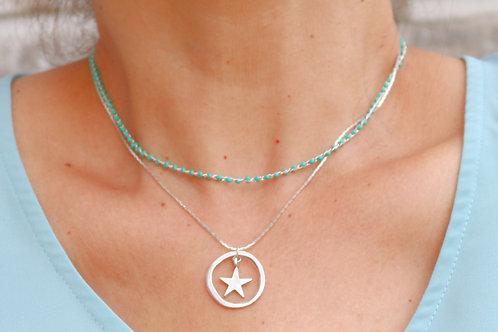 Spring O Star Necklace